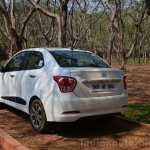 Hyundai Xcent Review rear shot three quarter