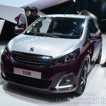 Peugeot 108 front three quarters at Geneva Motor Show