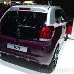 Peugeot 108 rear three quarters right at Geneva Motor Show