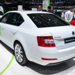 Skoda Octavia G-TEC rear three quarter - Geneva Live