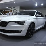 Skoda VisionC front three quarter at 2014 Goodwood Festival of Speed