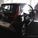 Toyota Aygo rear three quarters at the 2014 Goodwood Festival of Speed