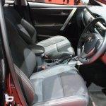 Toyota Corolla Altis ESport front seats at 2014 Bangkok Motor Show