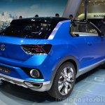 VW T-ROC Concept rear three quarters right angle at Geneva Motor Show