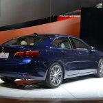 2015 Acura TLX 2014 New York Auto Show rear quarter