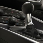 2015 Dodge Challenger 6-speed manual shifter press shot