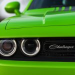 2015 Dodge Challenger headlamp detail press shot