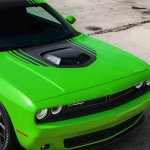 2015 Dodge Challenger hood press shot