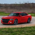 2015 Dodge Charger front three quarter left press shot