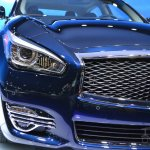 2015 Infiniti Q70L at 2014 NY Auto Show headlight