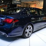 2015 Infiniti Q70L at 2014 NY Auto Show rear quarter