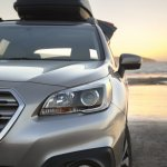 2015 Subaru Outback headlamp detail press shot