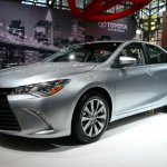 2015 Toyota Camry at 2014 NY Auto Show front quarter