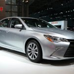2015 Toyota Camry at 2014 NY Auto Show front quarters