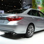 2015 Toyota Camry at 2014 NY Auto Show rear quarter