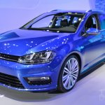 2015 VW Golf Sportwagen at 2014 NY Auto Show front quarter