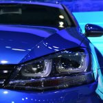 2015 VW Golf Sportwagen at 2014 NY Auto Show headlight