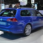 2015 VW Golf Sportwagen at 2014 NY Auto Show rear quarter