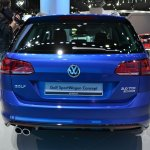 2015 VW Golf Sportwagen at 2014 NY Auto Show rear