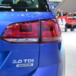 2015 VW Golf Sportwagen at 2014 NY Auto Show taillight