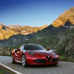 Alfa Romeo 4C front profile press shot