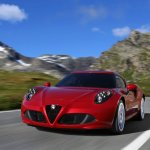 Alfa Romeo 4C front three quarter left press shot