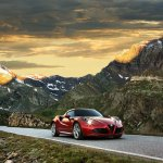 Alfa Romeo 4c front press shot