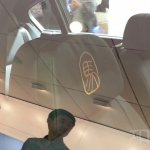 BMW 7 Series Horse Edition seat embroidery at Auto China 2014