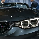 BMW M4 Convertible at 2014 New York Auto Show - headlamp detail