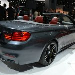 BMW M4 Convertible at 2014 New York Auto Show - rear three quarter