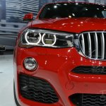 BMW X4 headlamp at the 2014 New York Auto Show