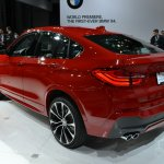 BMW X4 rear three quarters at the 2014 New York Auto Show