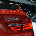 BMW X4 taillamp at the 2014 New York Auto Show