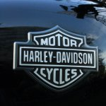 Harley Davidson Street 750 badge on fuel tank