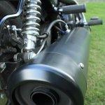 Harley Davidson Street 750 exhaust detail