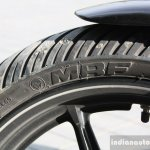 Harley Davidson Street 750 front tyre detail