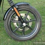 Harley Davidson Street 750 front wheel view