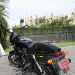 Harley Davidson Street 750 rear three quarter profile