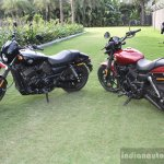 Harley Davidson Street 750 side by side
