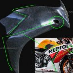 Honda CBR150R front fairing side