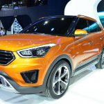 Hyundai ix25 front three quarters right at Auto China 2014