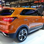 Hyundai ix25 rear three quarters view at Auto China 2014