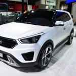 Hyundai ix25 white front three quarters at Auto China 2014