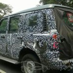 IAB Spied 2014 Mahindra Scorpio facelift rear