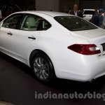 Infiniti Q70 rear three quarters left at Moscow Motor Show 2014