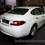 Infiniti Q70 rear three quarters right at Moscow Motor Show 2014