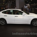 Infiniti Q70 side view at Moscow Motor Show 2014