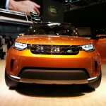 Land Rover Discovery Vision Concept front at Auto China 2014