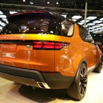 Land Rover Discovery Vision Concept rear three quarters at Auto China 2014