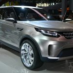 Land Rover Discovery Vision concept at 2014 NY auto show front quarter